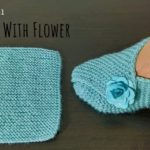 Easy Slippers With Flower
