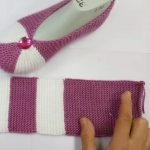 Knit Easy Two Stripes Slippers