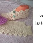 Knit Easy One-piece Slippers