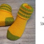 Knit Simple Lime Slippers