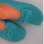 Knit Slippers From Rectangle With Bows
