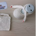 Knit One-piece Lace Baby Slippers