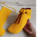 Knit Simple Slippers with laces