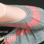 Knit Simple Line Slippers