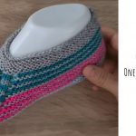 Knit One-piece Colorful Slippers