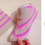 Knit Simple Arrow Slippers