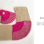 Knit Easy Slippers with Stripes