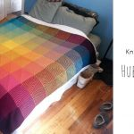 Knit Hue Shift Afghan