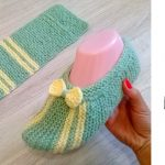 Knit Simple Slippers from Rectangle