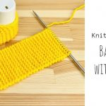 Knit Baby Booties with Pompoms
