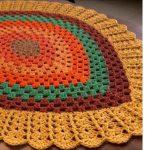 Crochet Fall Leaf Rug