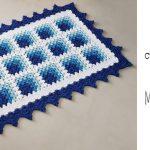 Crochet Rectangular Mitered Blanket