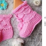 Knit Honeycomb Baby Booties