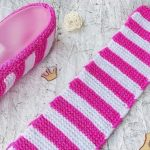 Knit Simple Wheel Candy Slippers
