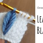 Crochet Leaf on the Blanket