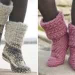 Crochet Two Beautiful Slippers