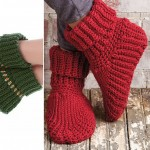 Crochet Slipper Boots