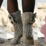 Knit Moon Socks