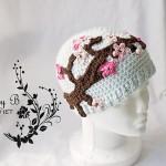 Art Inspired Snarky Crochet Hat
