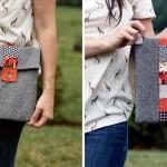 Scrappy Stripe Tablet Bag