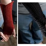 Gauntlet Style Fingerless Gloves