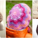 Knit Beret With Flower