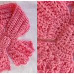 Crochet Bow Scarflet