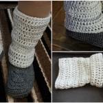 Crochet Legwarmer Slippers