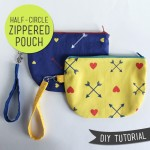 Half Circle Zip Pouch