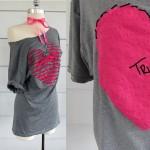 Heart-shaped T-shirt
