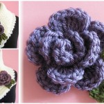 Scarf With Rolled Rose