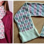 Knit Honeycomb Scarf