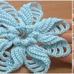 Crochet Folded Petal Flower – Video Tutorial