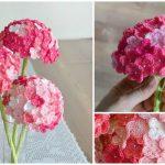 Crochet Hydrangea Flower