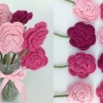 Crochet Rose Bouquet
