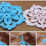 Crochet Flower With 3D Center