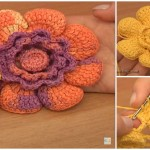 Crochet Flower With Cupped Petals