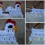 Crochet Little Hen Border