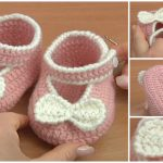 Crochet Bow Shoes For Baby