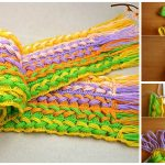 Crochet Scarf On The Line