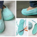 Creative and Comfortable Crochet Slippers With Flip Flop Soles
