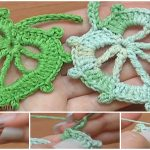 How To Crochet Leaf In Round