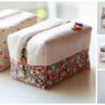 Sew Block Zipper Pouch