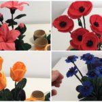 Crochet 4 Beautiful Flowers