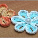Crochet Two-side 3D Flower