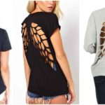 Wings Cutout T-shirt Tutorial