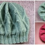 Knit Cabled Rangoli Beanie