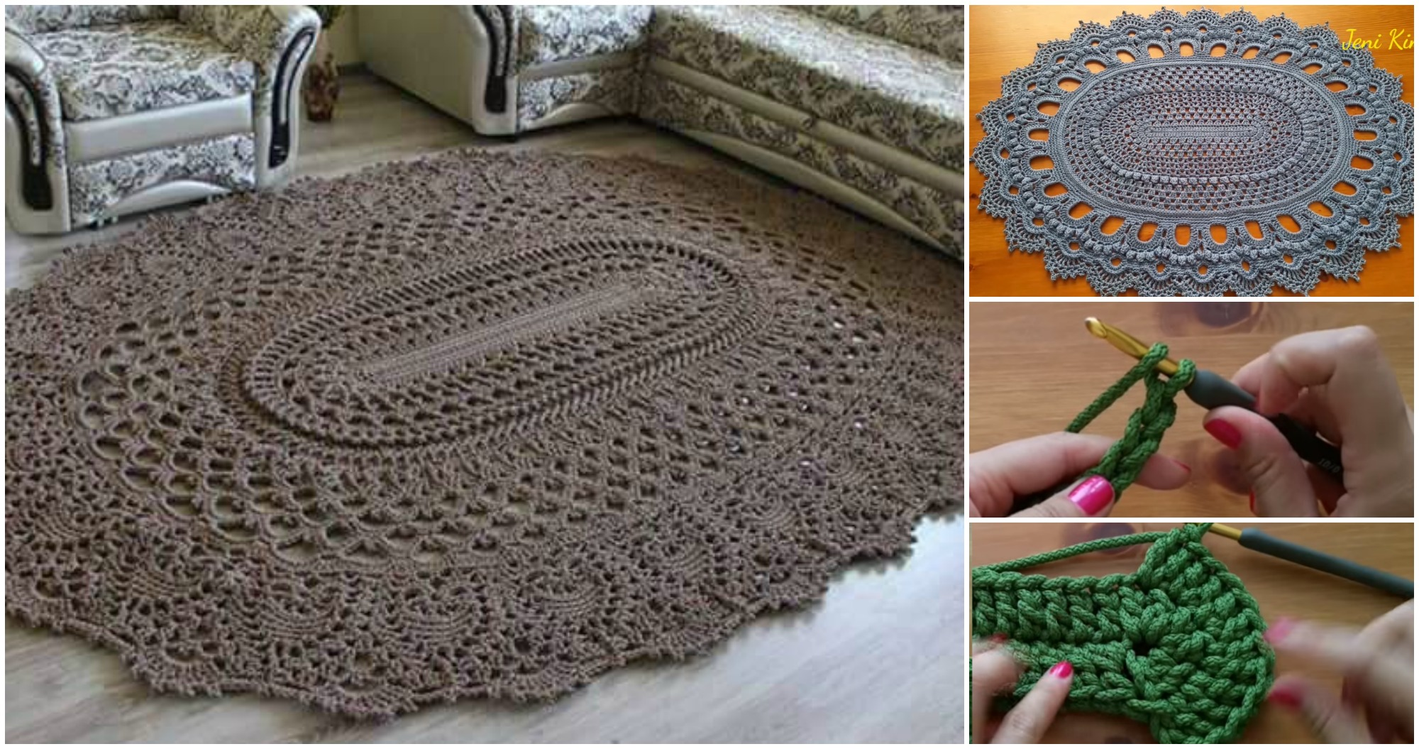 Oval Rug Video Tutorial Pretty Ideas