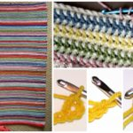 Vintage Vertical Stripe Crocheted Blanket Pattern