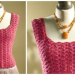 Tank Top With Shell Stitch
